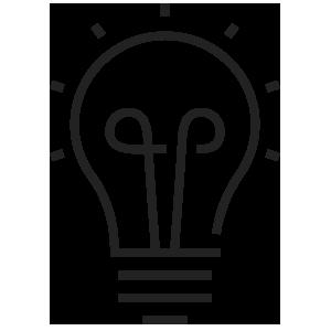 Business Branding Light Bulb Line Icon