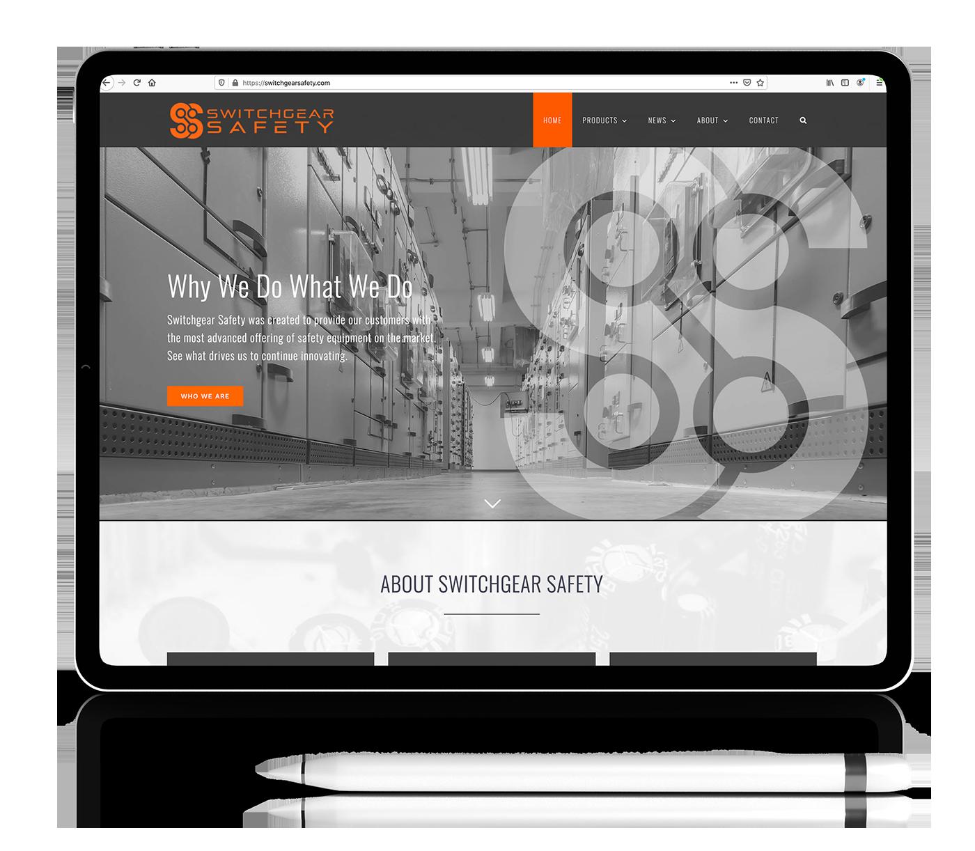 iPad-pro website design mockup