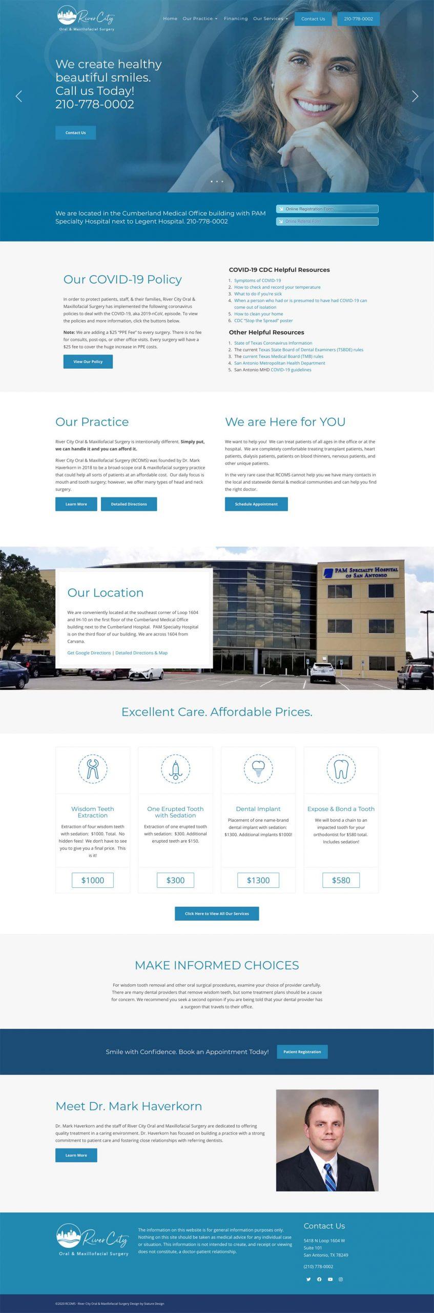 River City OMS Dental Website