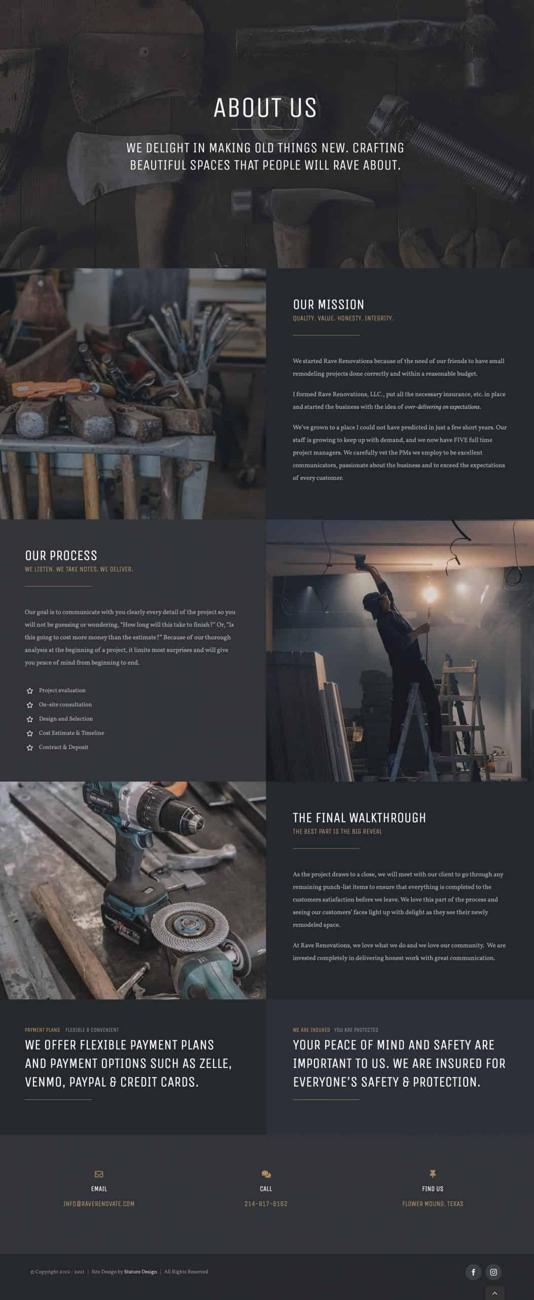 Remodeling and Construction Website Design