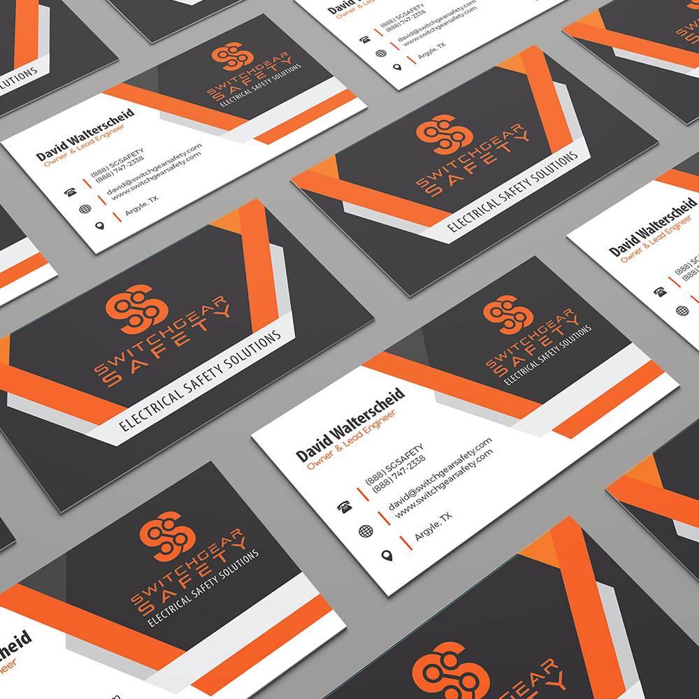 Switchgear Safety Business Card Design
