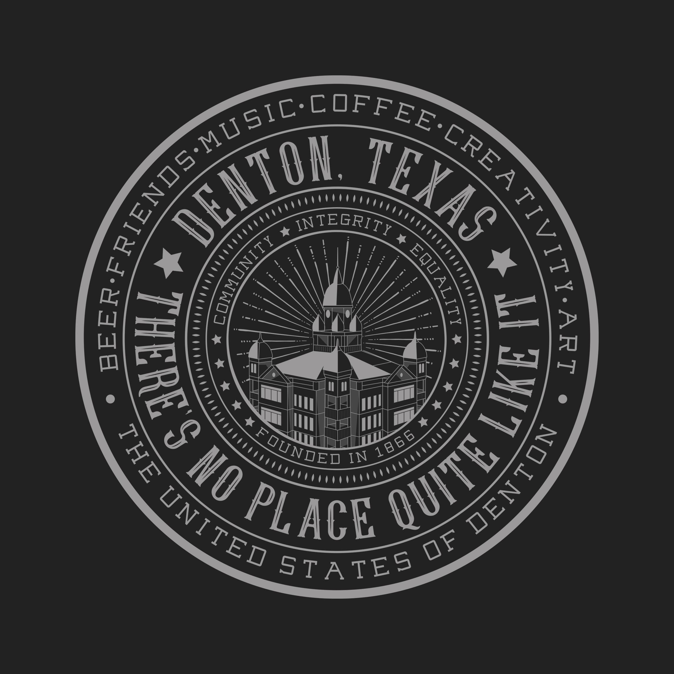 Custom Denton Texas Logo and Sticker